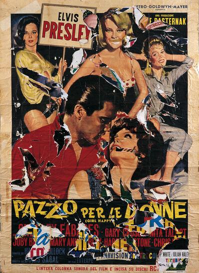 Mimmo Rotella, 'Ancora Elvis', 2004