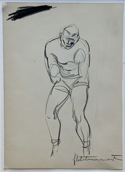 Fletcher Martin, '(Untitled) Double-sided Sketch of Boxers', ca. 1932
