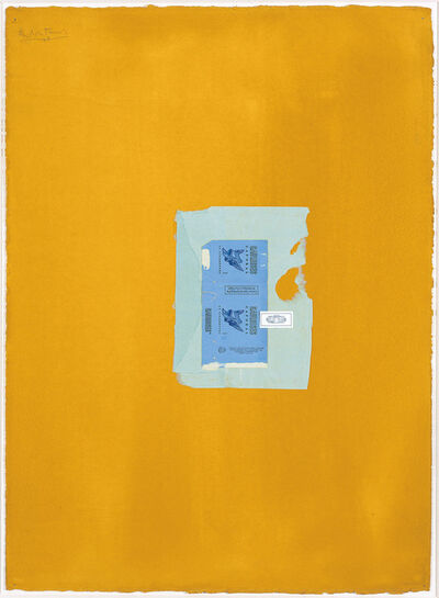 Robert Motherwell, 'In Yellow Ochre with Two Blues', 1968