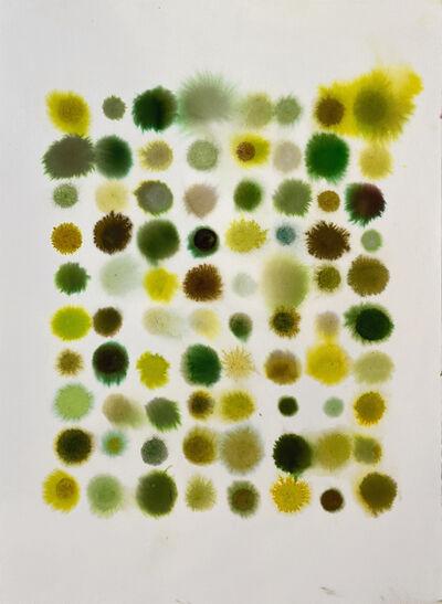 Lourdes Sanchez, '80 Dots, Mostly Yellow-Green', 2020