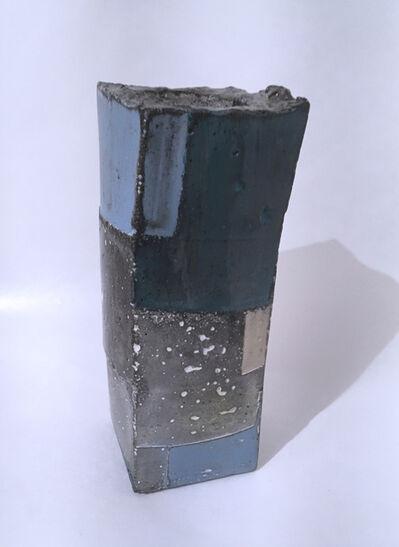 Dena Paige Fischer, 'Blue and White Cube Votive Sculpture 2', 2020