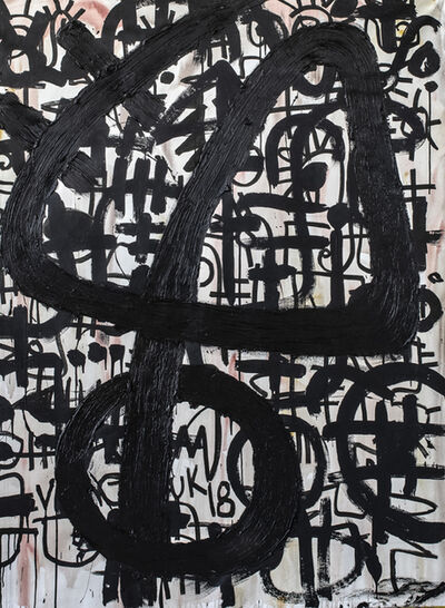 Victor Ekpuk, 'Composition in Black 1', 2019
