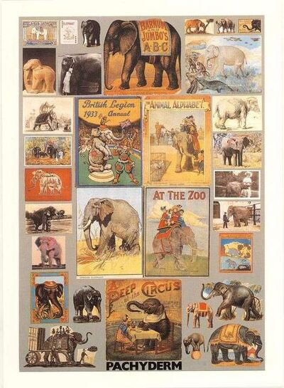 Peter Blake, 'P is for Pachyderm', ca. 2020