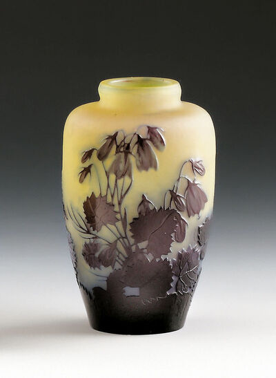 Emile Gallé, 'Small vase with bellflower', France, Nancy, 1900 to 1904