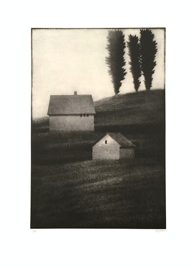 Robert Kipniss, 'Hillside w/ three trees', 2018