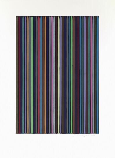 Ian Davenport, 'Etched Lines 2', 2006