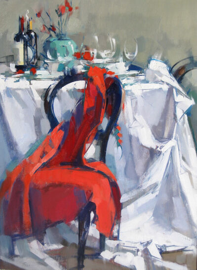 Maggie Siner, 'Long Red Dress on Chair', 2016