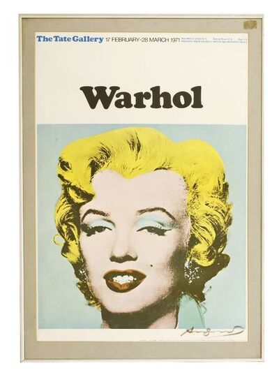 Andy Warhol, 'EXHIBITION POSTER, for 1971 exhibition'