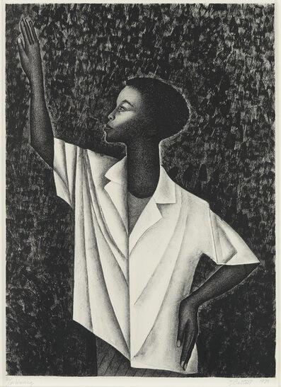 Elizabeth Catlett, 'Waving', 1989