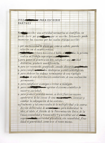 Pablo Lehmann, 'Definición de arte 2'
