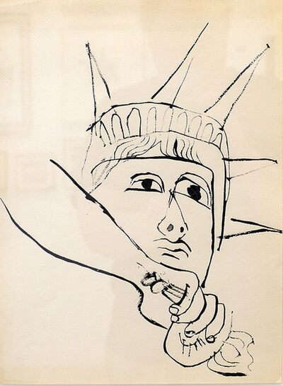 Ben Shahn, 'Liberty Down Torch ', ca. 1952