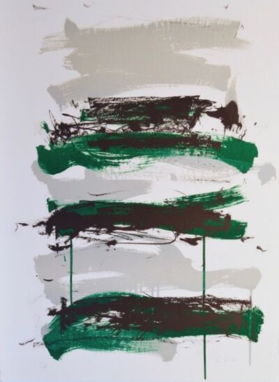 Joan Mitchell, 'Champs - Black, Gray and Green', 1991