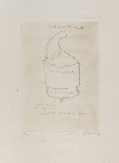 Marcel Duchamp, 'Pulled at four pins', 1915-1964