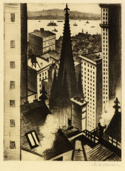 Christopher Richard Wynne Nevinson, 'The Temples of New York', 1919