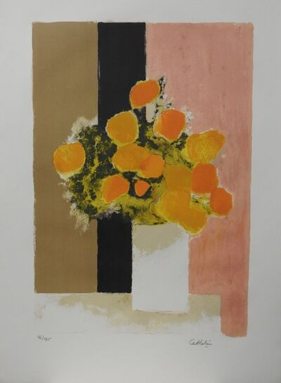 "Bernard Cathelin, '""Bouquet de roses d'Inde""', 1971"