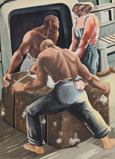 Charles Alston, 'Untitled (Stevedores Hauling Cotton Bale)', ca. 1940