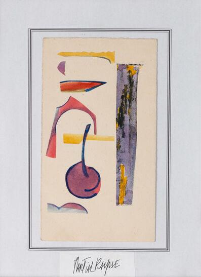 Martial Raysse, 'Gouache et collage sur papier'