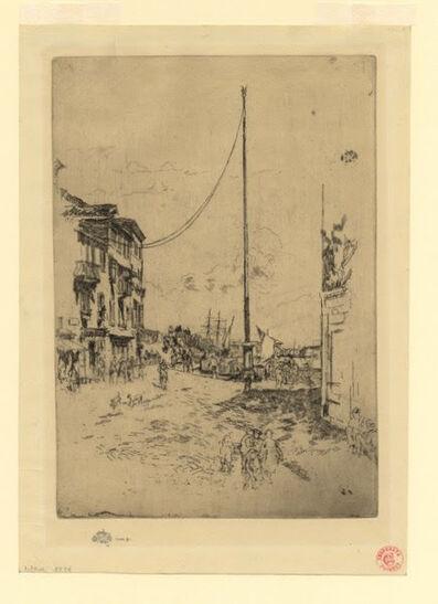 James Abbott McNeill Whistler, 'The Little Mast', 1883-1880