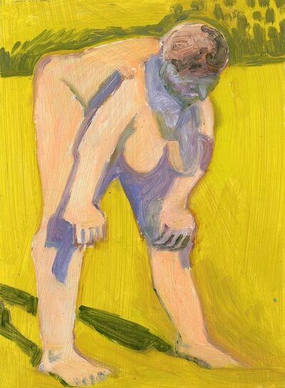 Lois Dodd, 'Standing Nude, Hands on Knees', 2018