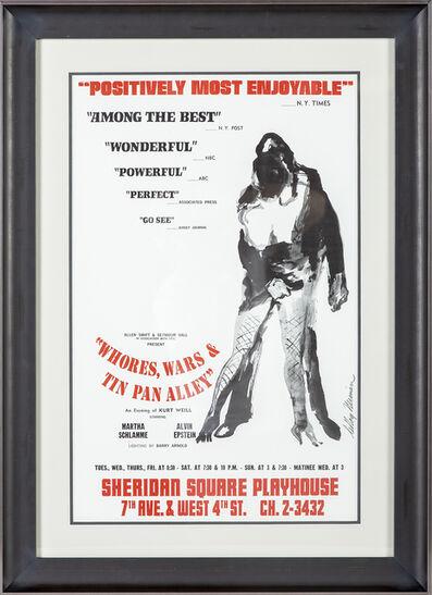 LeRoy Neiman, 'Whores, Wars & Tin Pan Alley Poster Alvin Epstein', 1969