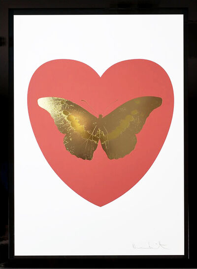 Damien Hirst, ''I Love You' Coral & White Butterfly', 2015