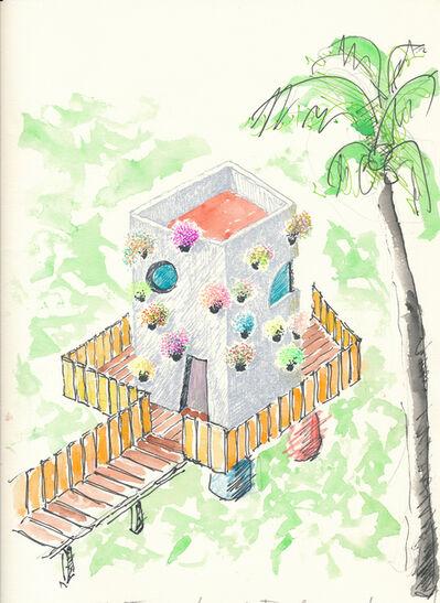 Gaetano Pesce, 'La casa di Bahia, progetto per una casa privata  e  alcune guest house nel parco,  Bahia, 1998 '