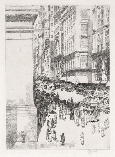 Childe Hassam, 'Fifth Avenue, Noon.', 1916