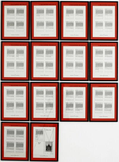 Hanne Darboven, 'Weltansichten', 1990