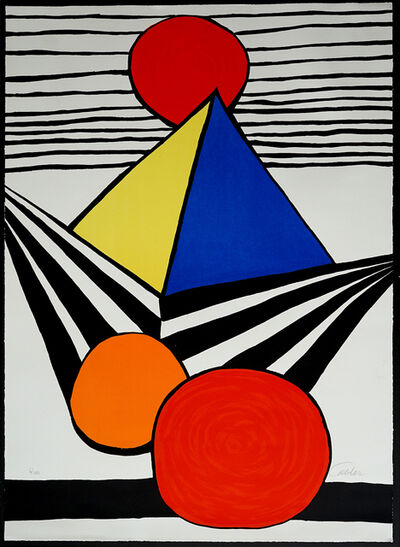 Alexander Calder, 'Pyramid and Red Sun, from La Mémoire élémentaire', 1978