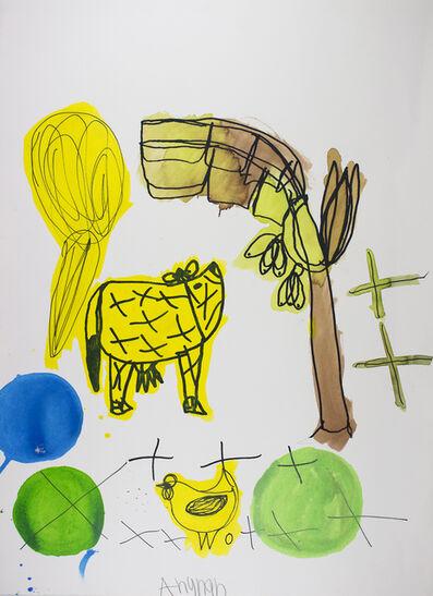 Arunan Dharmalingam, 'Yellow Cow & Banana Tree', 2017