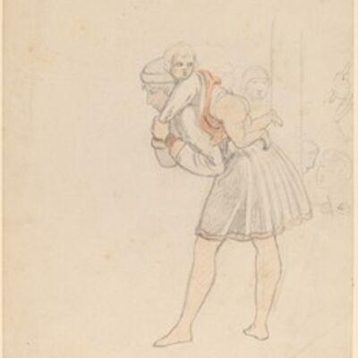 Elihu Vedder, 'Study after Gozzoli', 1858