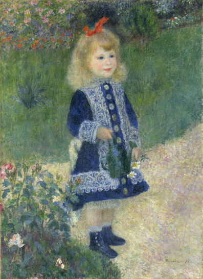 Pierre-Auguste Renoir, 'A Girl with a Watering Can', 1876