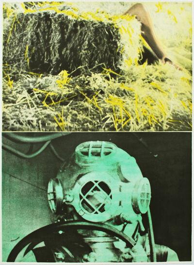 John Baldessari, 'Leg, Straw, Diver', 1986