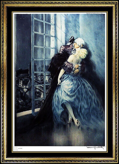 Louis Icart, 'Louis Icart Authentic Color Etching Hand Signed French Rare Deco Artwork Lovers', 1930