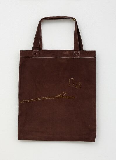 Noel McKenna, 'Brown tote bag with bird on branch', 2019
