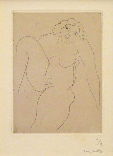 Henri Matisse, 'Nu de face, jambe droite repliee', 1929