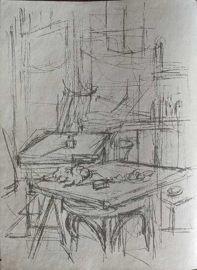 Alberto Giacometti, 'Untitled (tables in studio)', 1957