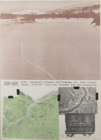 Dennis Oppenheim, 'Time Line Kent, Maine', 1978