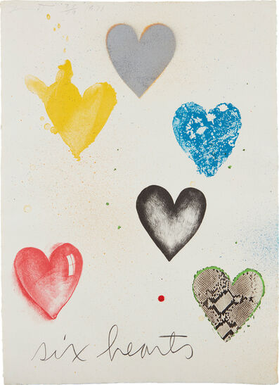 Jim Dine, 'Six Hearts', 1970