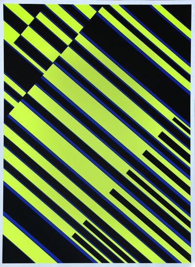 """Günter Fruhtrunk, 'aus der Mappe """"Farbbewegungen"""" ', 1969"""