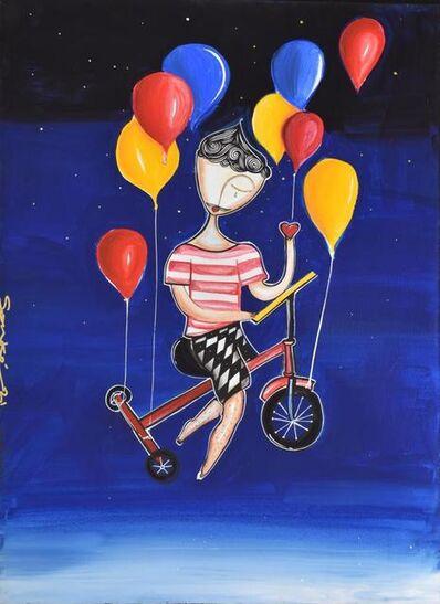 Sonke, 'Balloon Biker', 2021