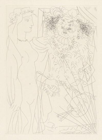 Pablo Picasso, 'REMBRANDT TENANT PAR LA MAIN UNE JEUNE FEMME AU VOILE', 1934