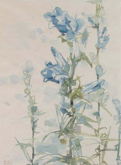 Bruno Bobak, 'Untitled (Hollyhocks)', ca. 1960