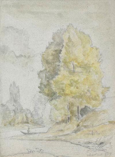 Camille Pissarro, 'Arbres Au Bord d'Une Reviere', 1859