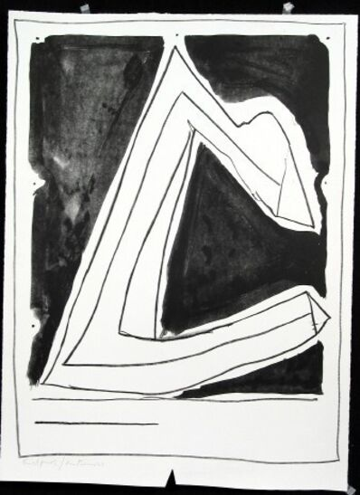 Robert Motherwell, 'Summertime in Italy with lines (printed in reverse)', 1966
