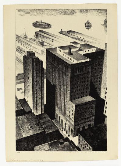 Louis Lozowick, 'Backyards of Broadway', 1926