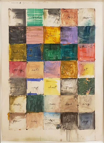 Jim Dine, 'Wall Chart (state E)', 1974