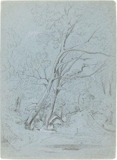 John Varley, 'A Cottage on a Lane', probably 1800/1810