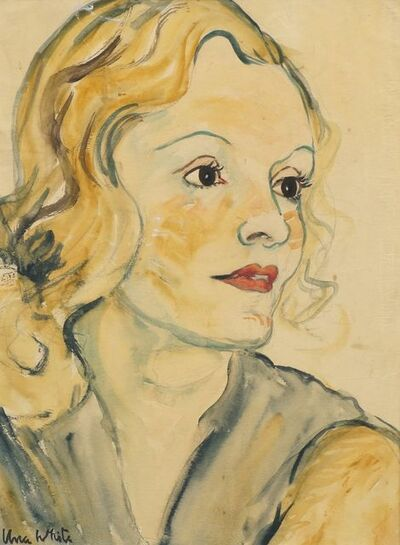 Unk White, 'Portrait of a woman, head and shoulders'