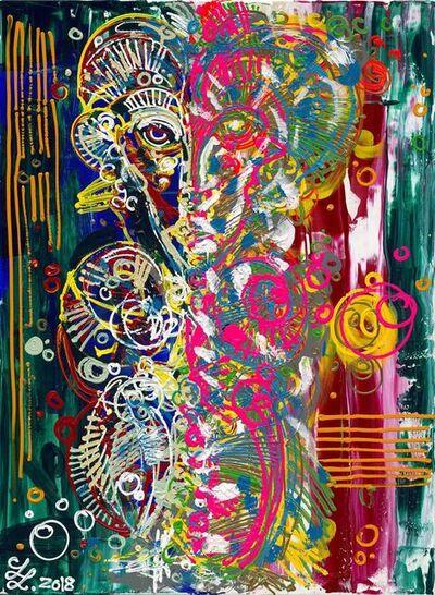 Leon Löwentraut, 'Stripes', 2019